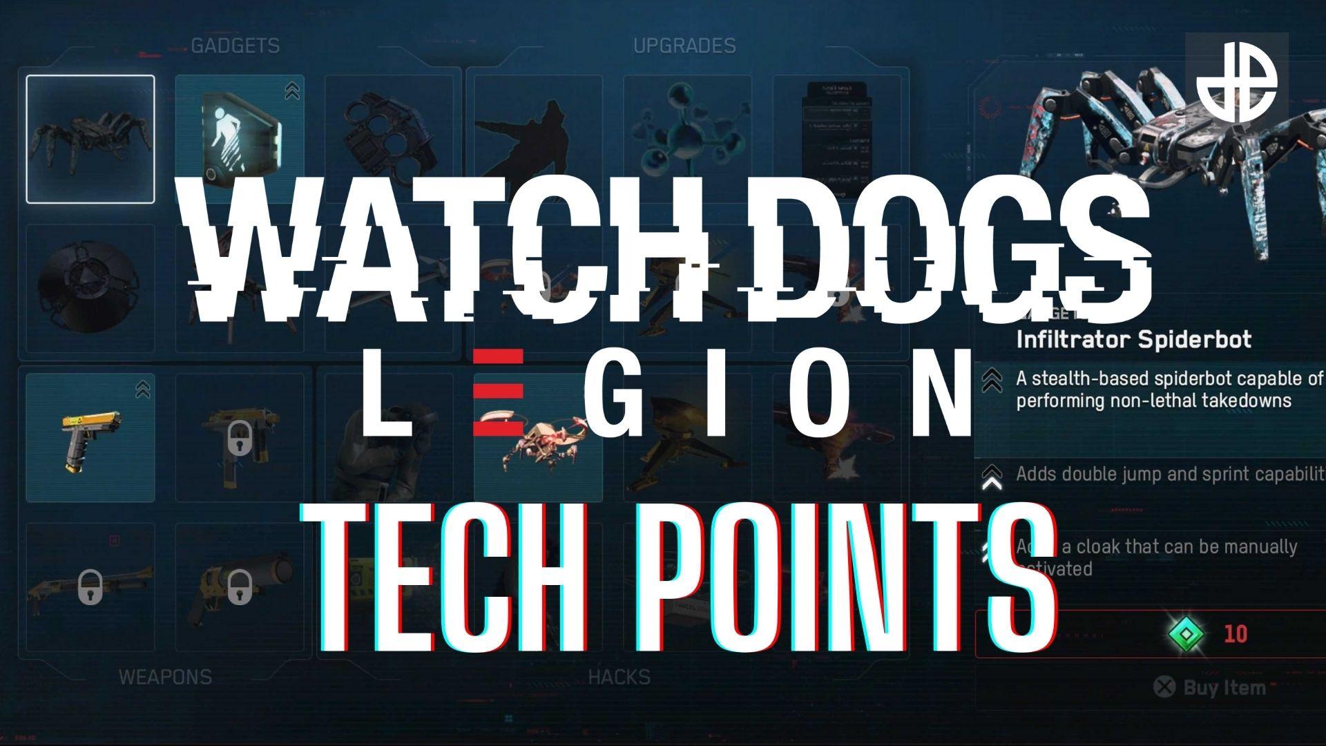 Watch Dogs Legion Tech Points screen