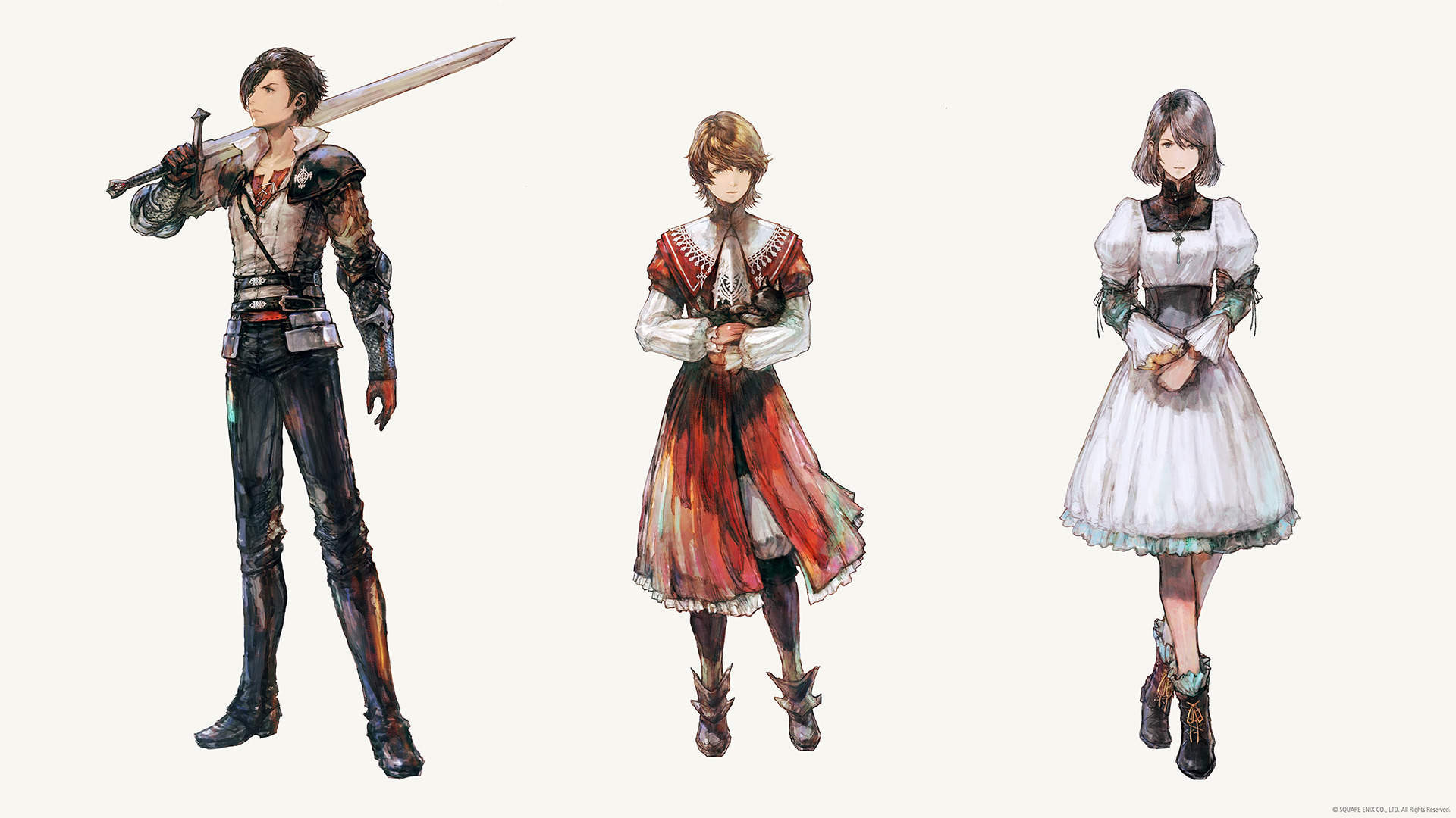 Clive, Joshua, and Jill from Final Fantasy 16