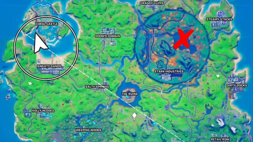 Fortnite location in map season 4