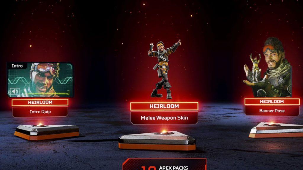 Mirage's Heirloom pack in Apex Legends