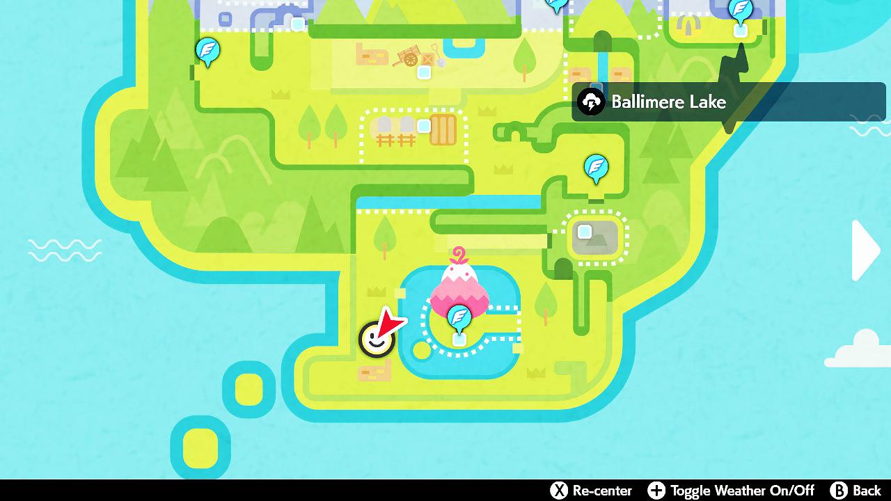 ballimere lake map pokemon sword shield