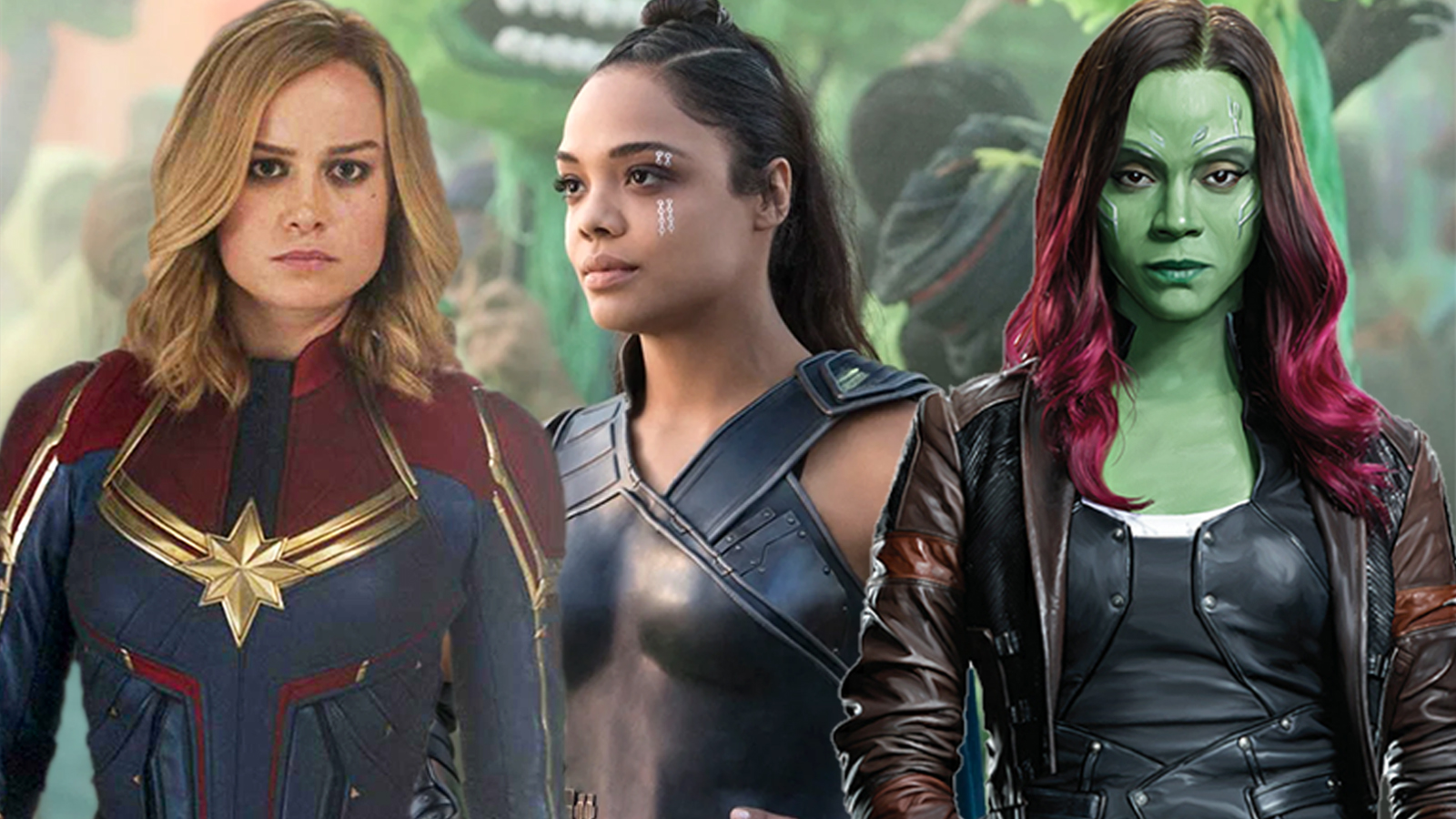 Captain Marvel, Valkyrie and Gamora in Avengers