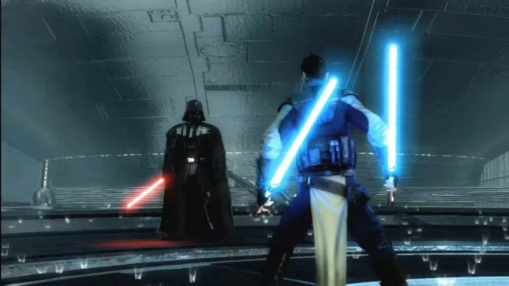 starkiller vs darth vader in force unleashed
