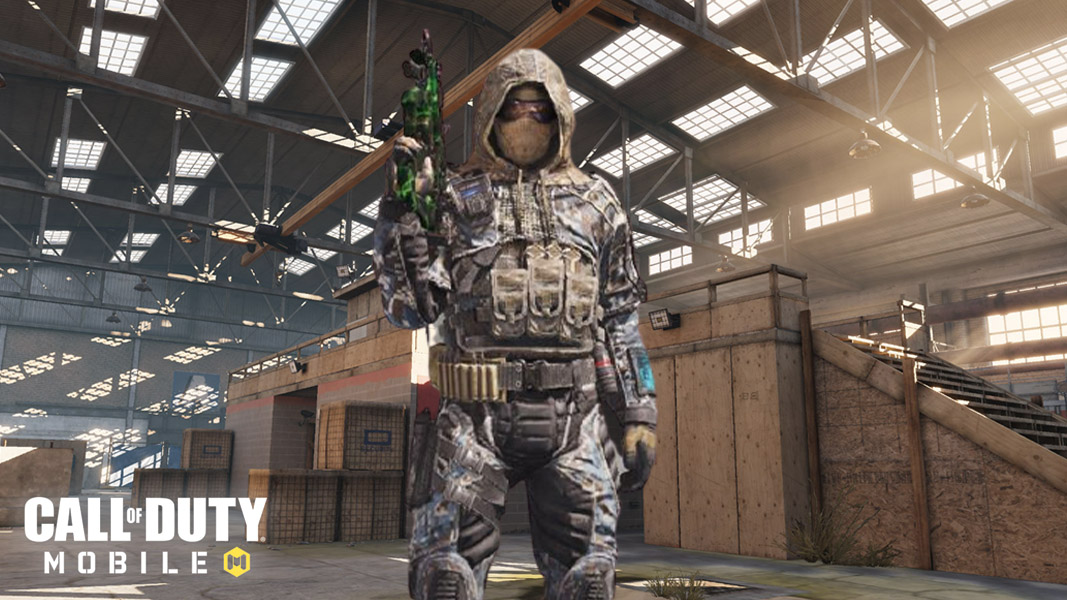 CoD Mobile character standing tall