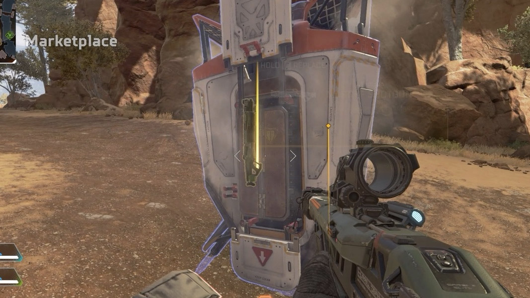Supply drop with weapons inside in Apex Legends