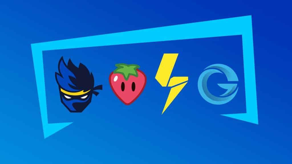 Logos of fortnite streamers
