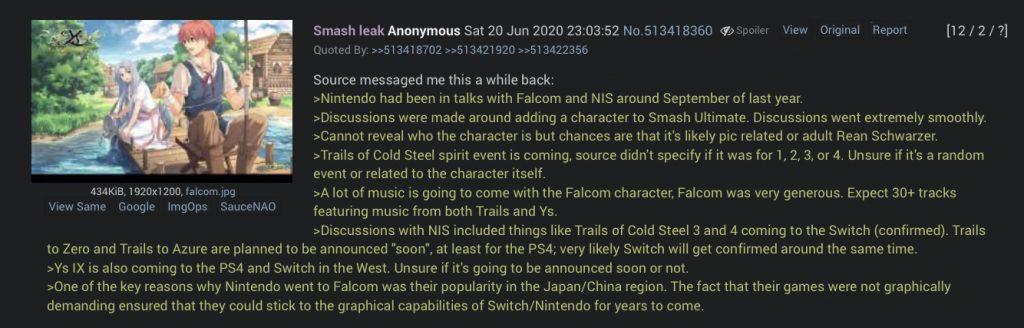 4chan Smash Bros leak