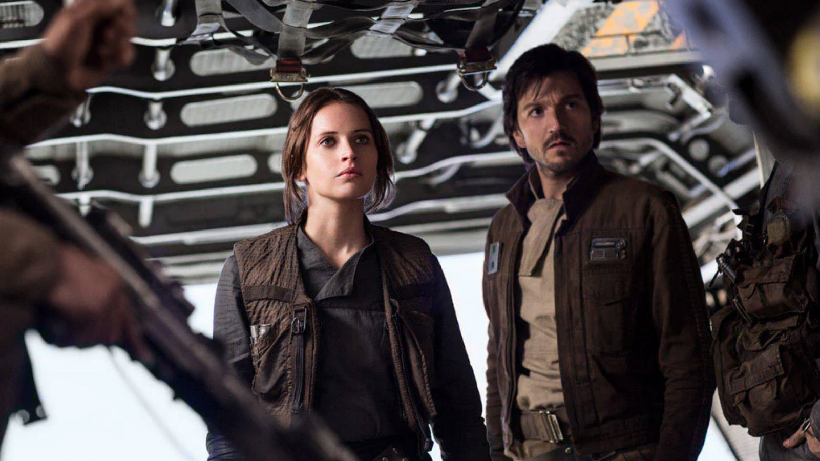 Jyn Erso on board with Cassian Andor