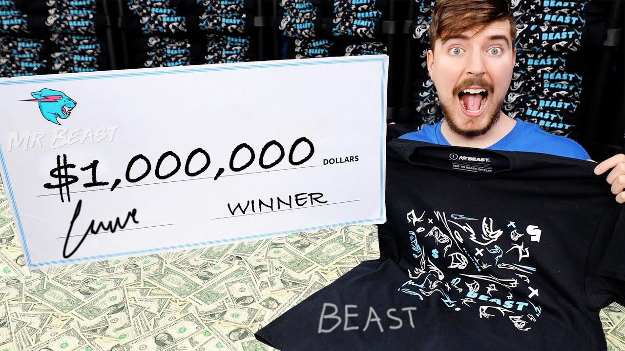 Mr Beast $1,000,000 giveaway header