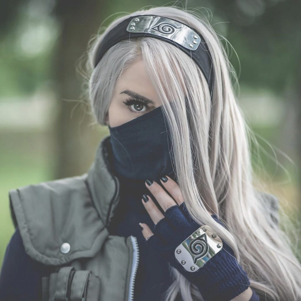 Nicole Winters cosplay of Kakashi from Naruto