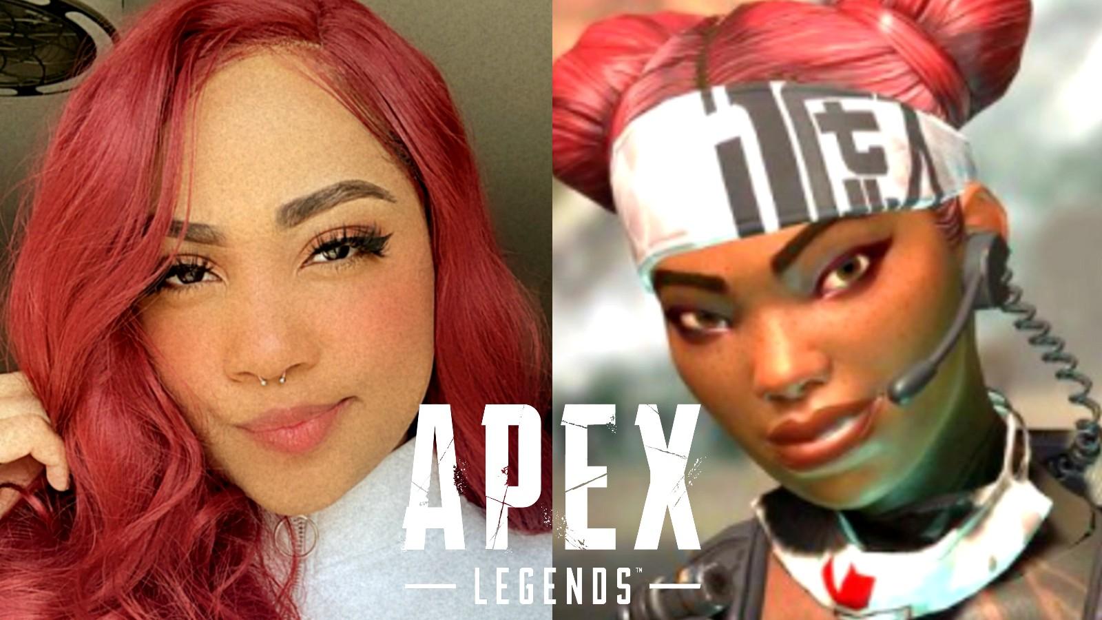 Apex Legends Liftetime next to cosplayer Ninjayla
