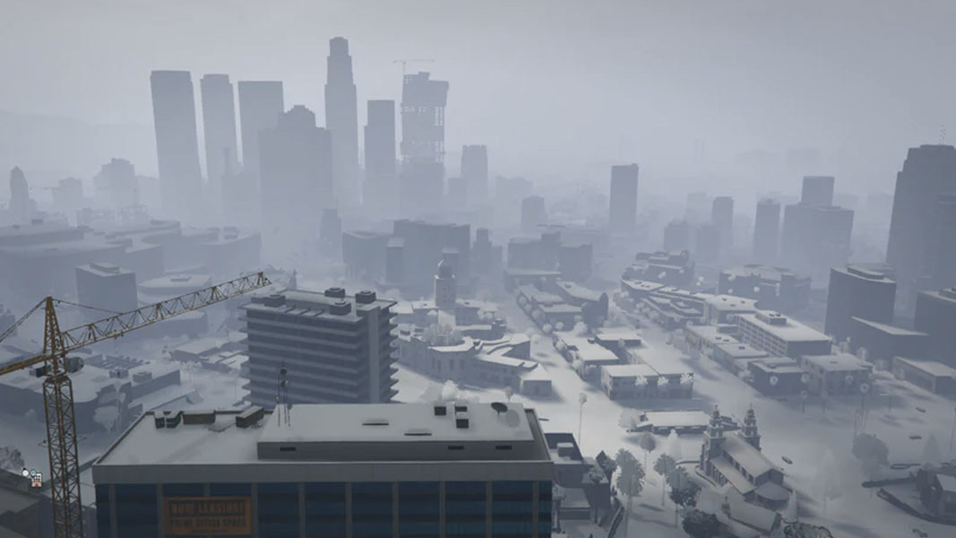 GTA Online map covered in snow