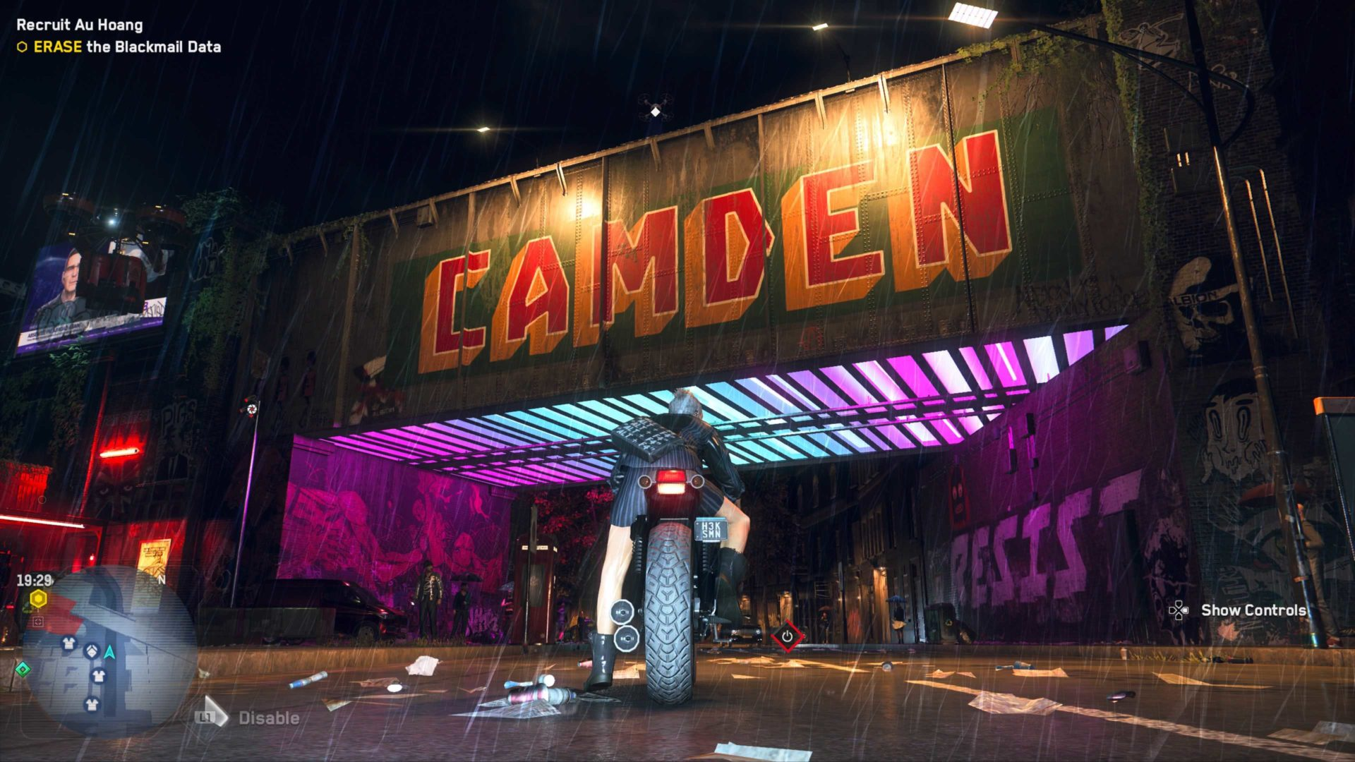 camden graffiti in watch dogs legion
