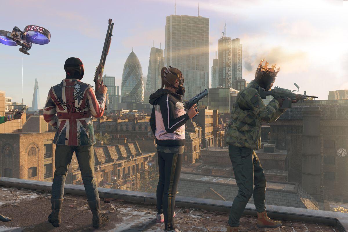Watch Dogs Legion london skyline characters