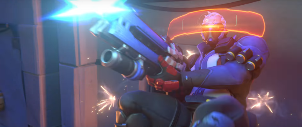 Soldier 76 uses tactical visor