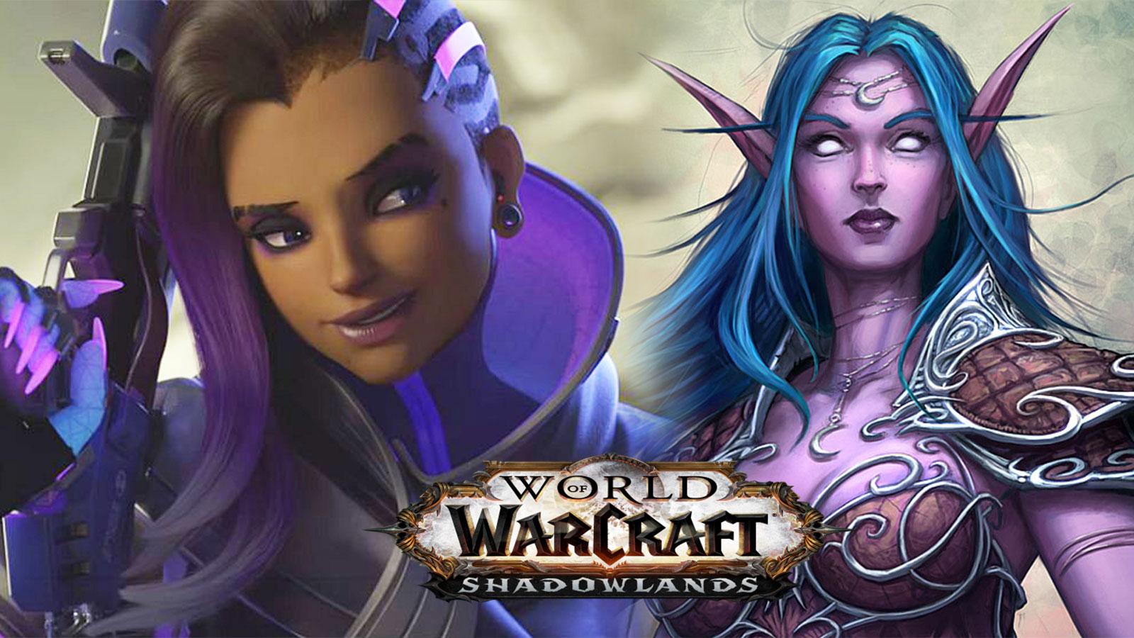 Sombra Night Elf Overwatch World of Warcraft