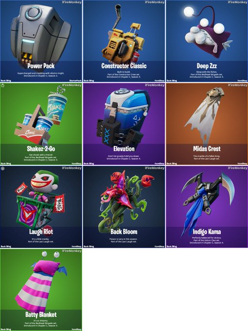 Backblings from Fortnite v14.50 update