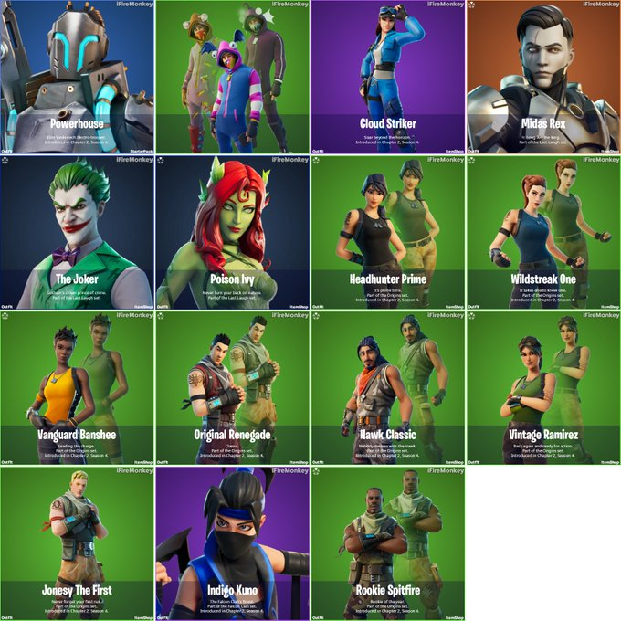 Skins from Fortnite v14.50 update