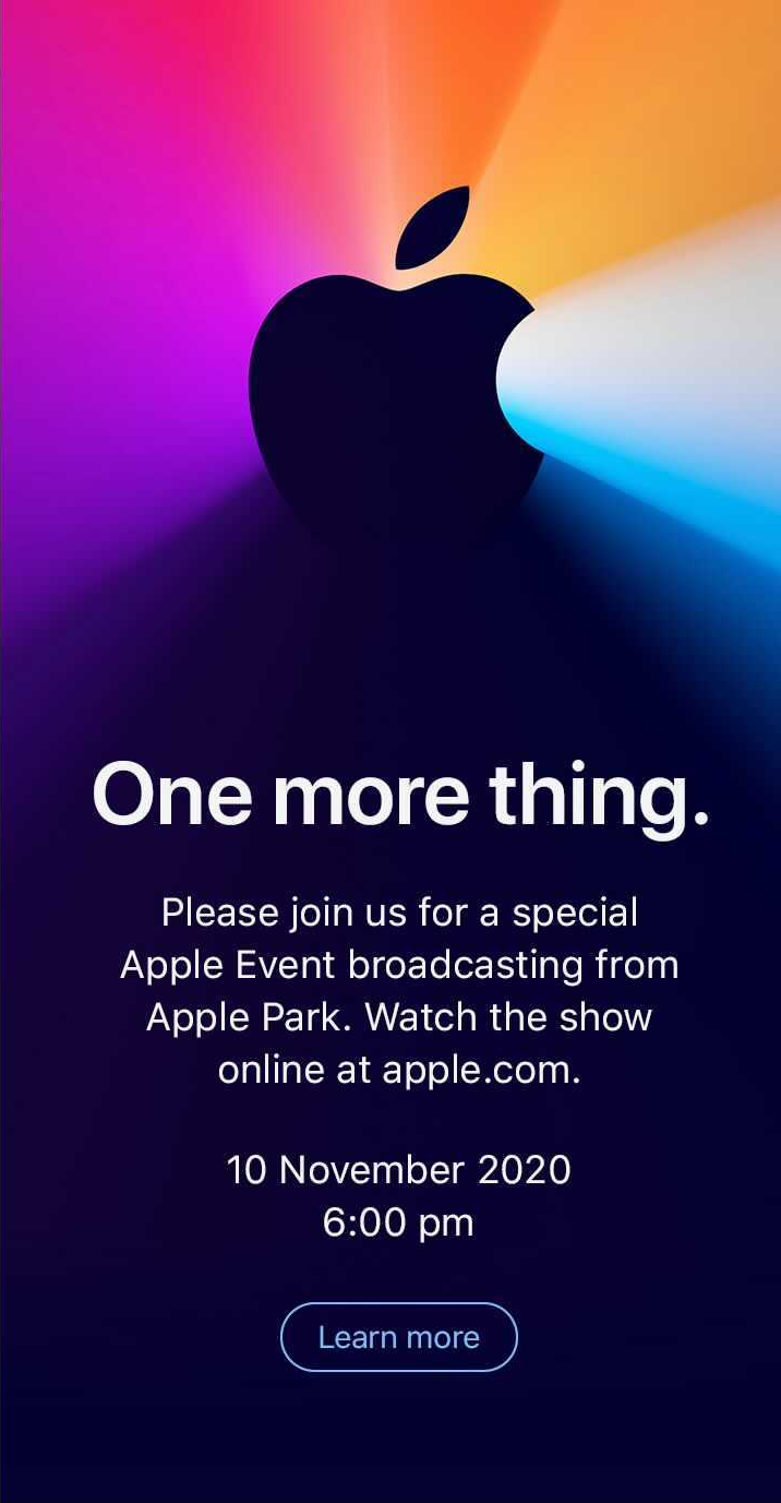 Apple one more thing event November 10