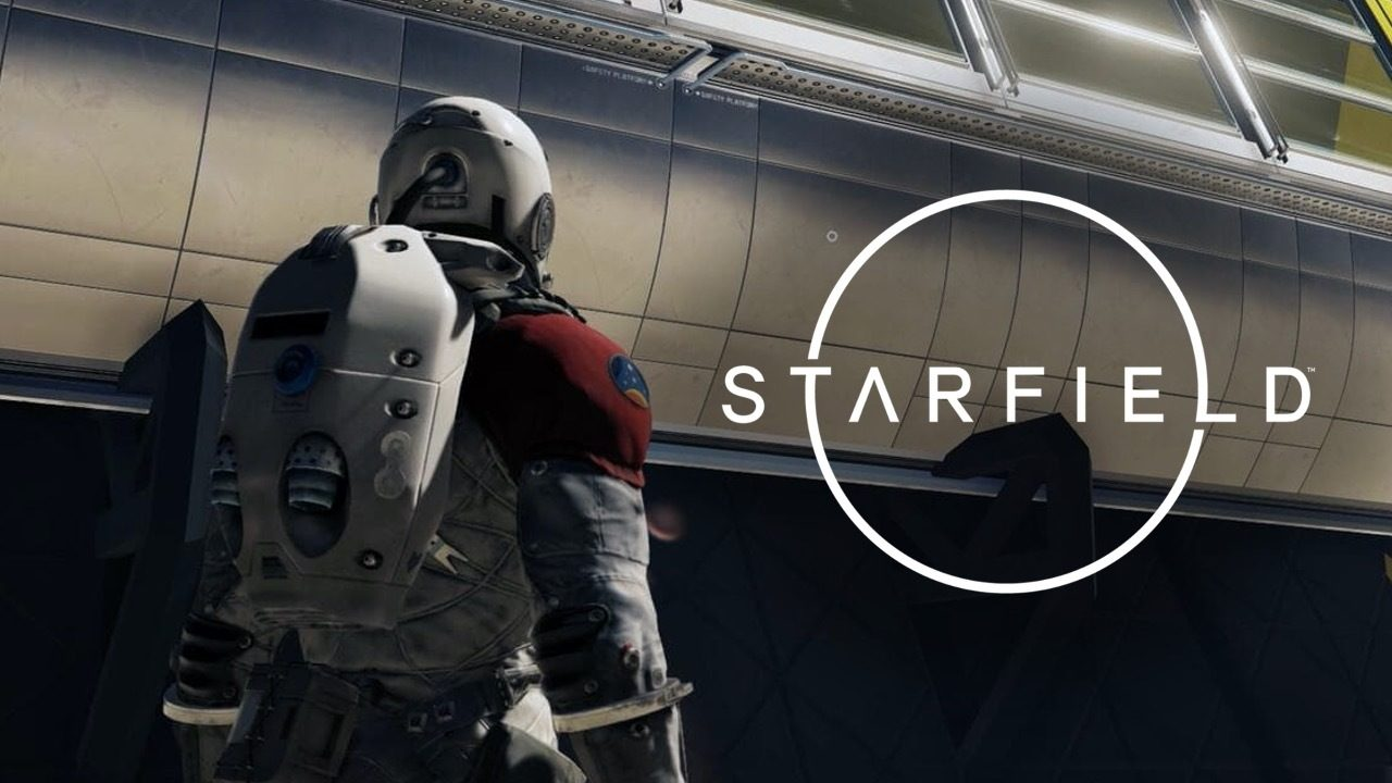 Starfield logo on a ship