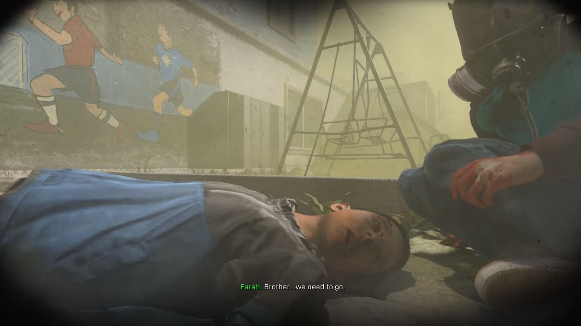 a dead kid in cod modern warfare