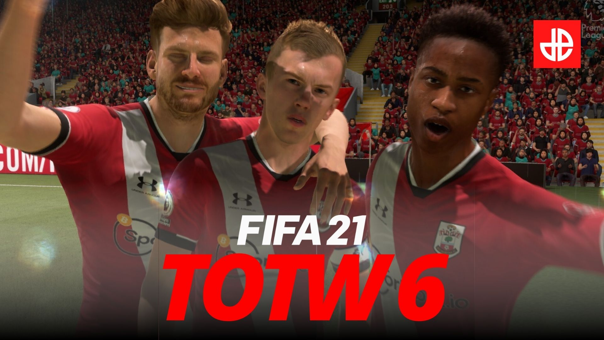 James Ward-Prowse celebrates Southampton goal in FIFA 21.