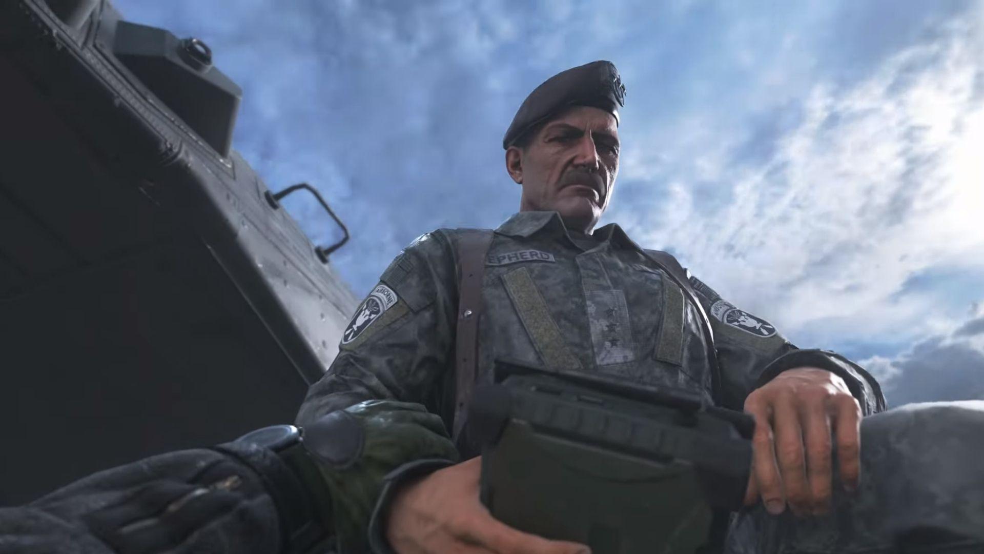 general shepherd in COD modern warfare 2