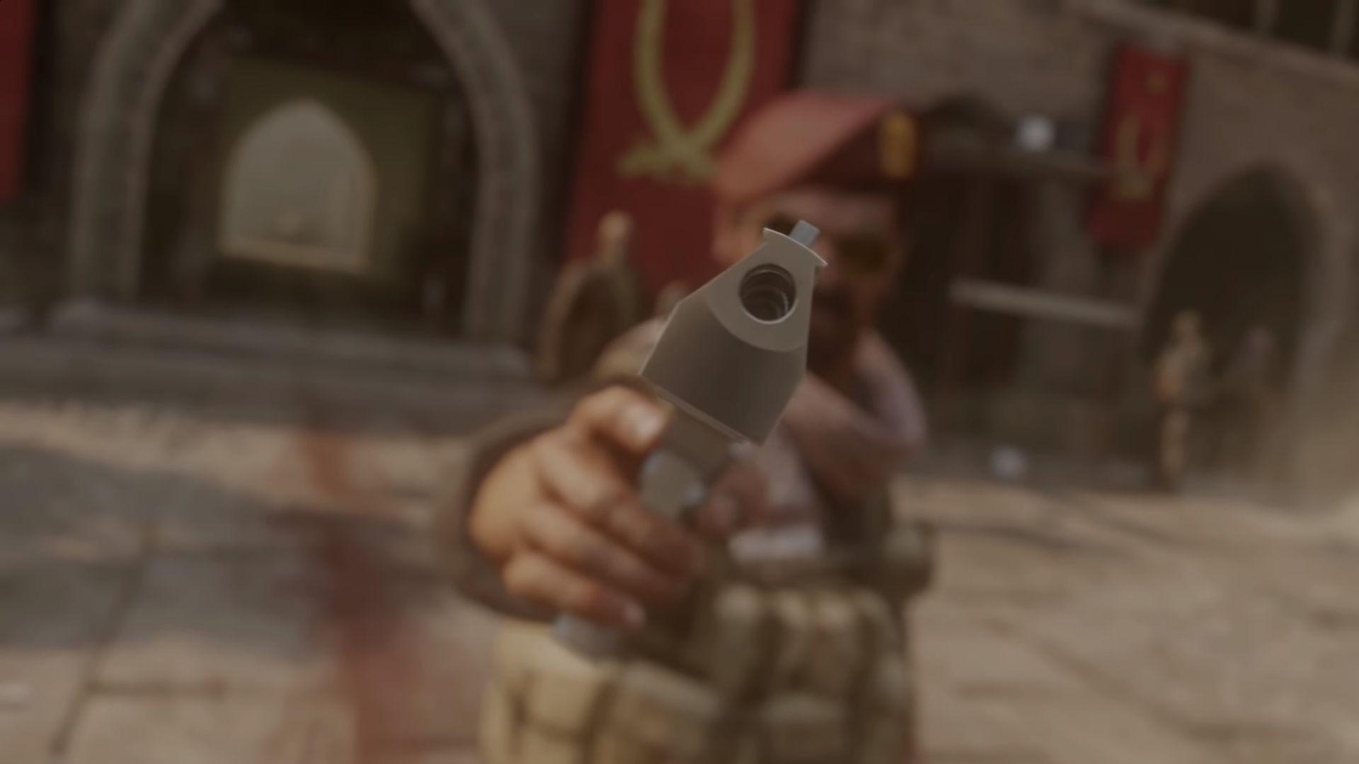 looking at a gun in COD4