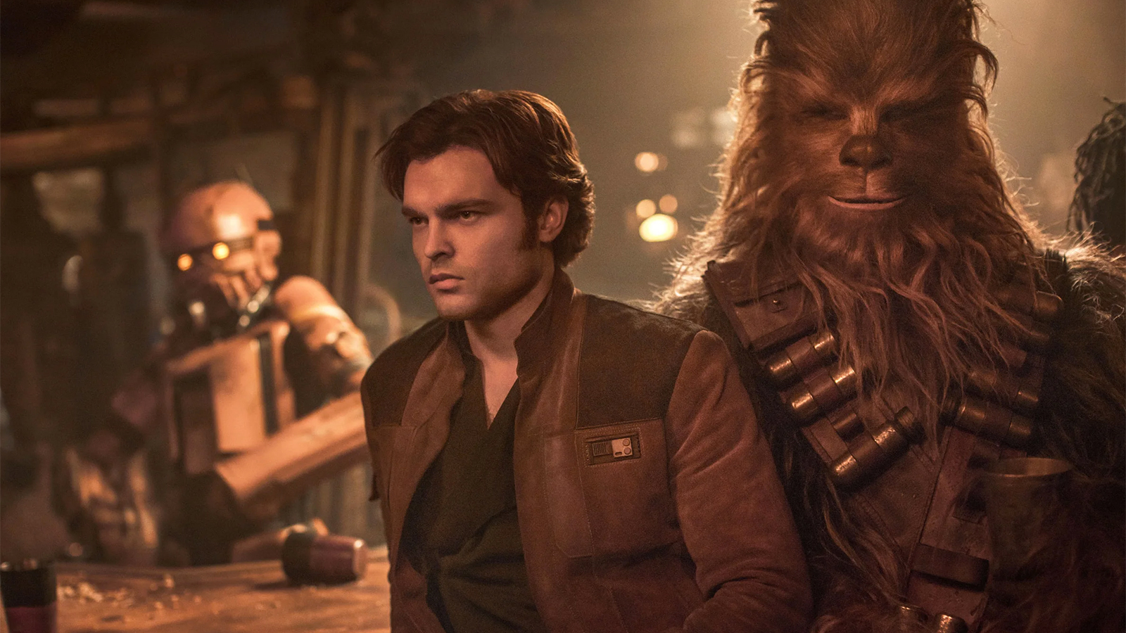 Hans Solo and Chewbacca in Star Wars