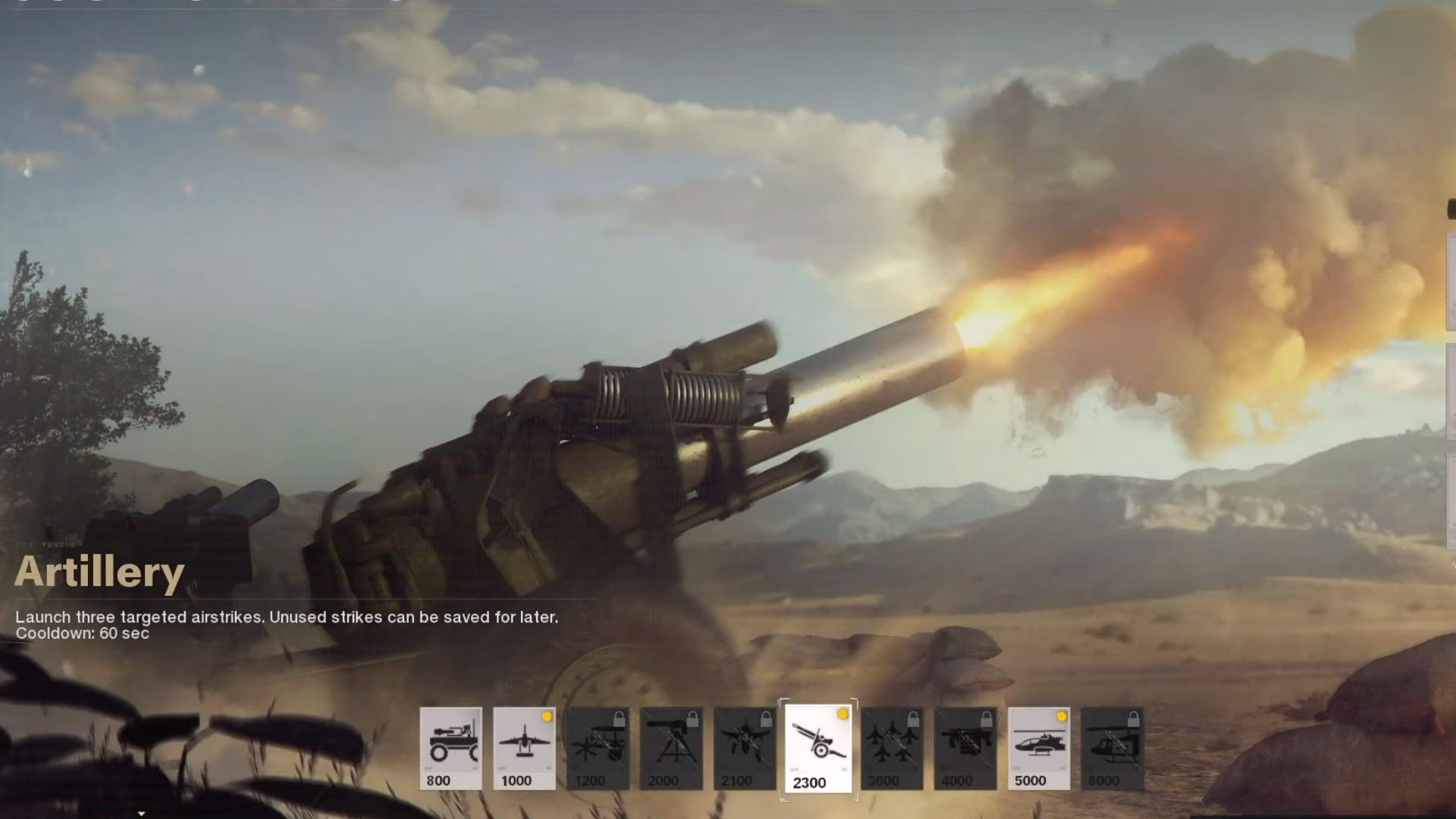 the artillery strike in cod black ops cold war