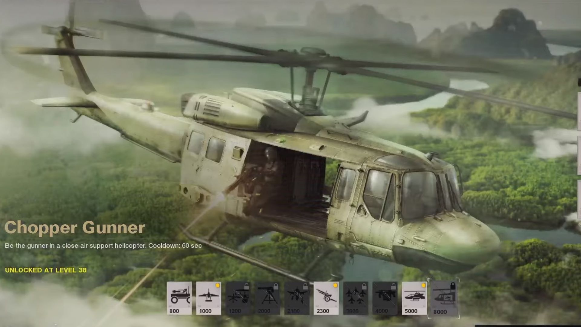 chopper gunner in cod black ops cold war