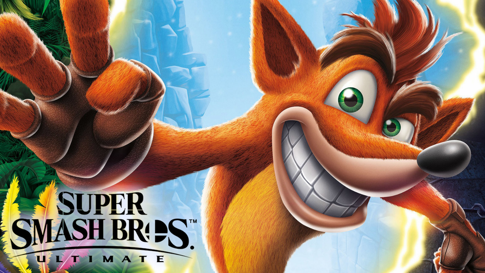 Crash Bandicoot in Smash Bros