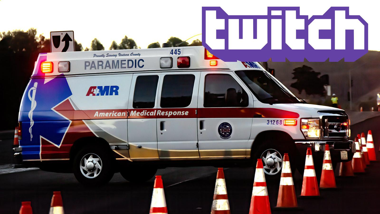 Ambulance with Twitch logo
