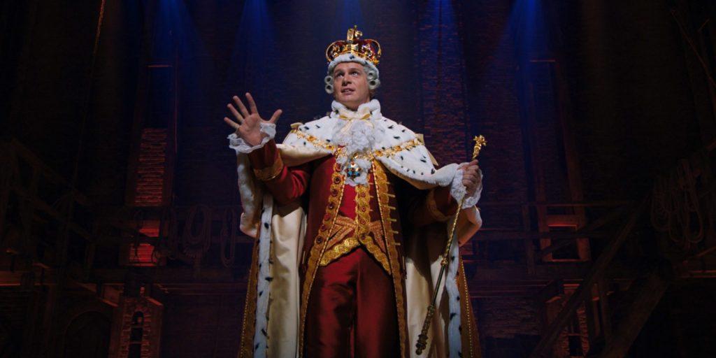 Jonathan Groff sings as King George in Hamilton.