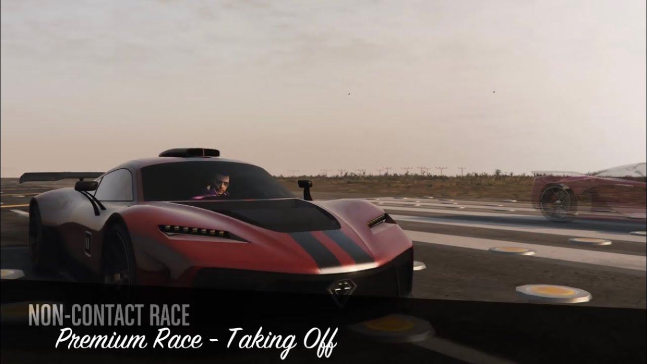 Taking off race in gta online