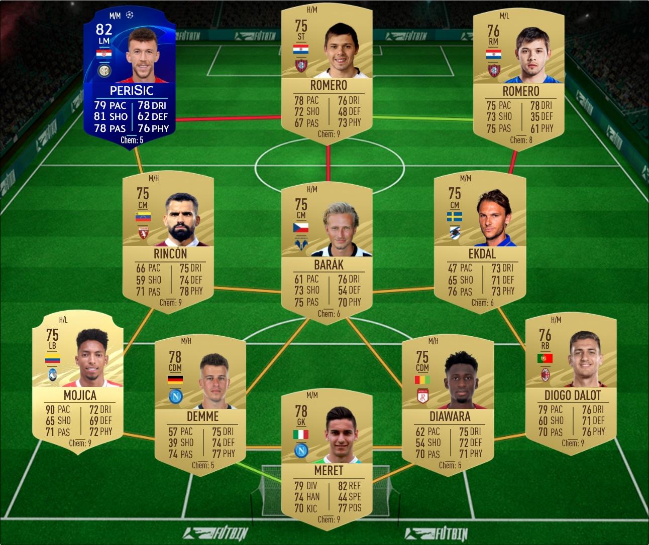 Real Madrid v Inter Milan Marquee Matchups SBC solution