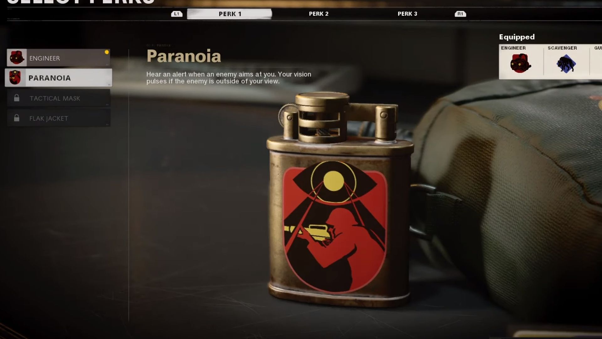paranoia perk in black ops cold war