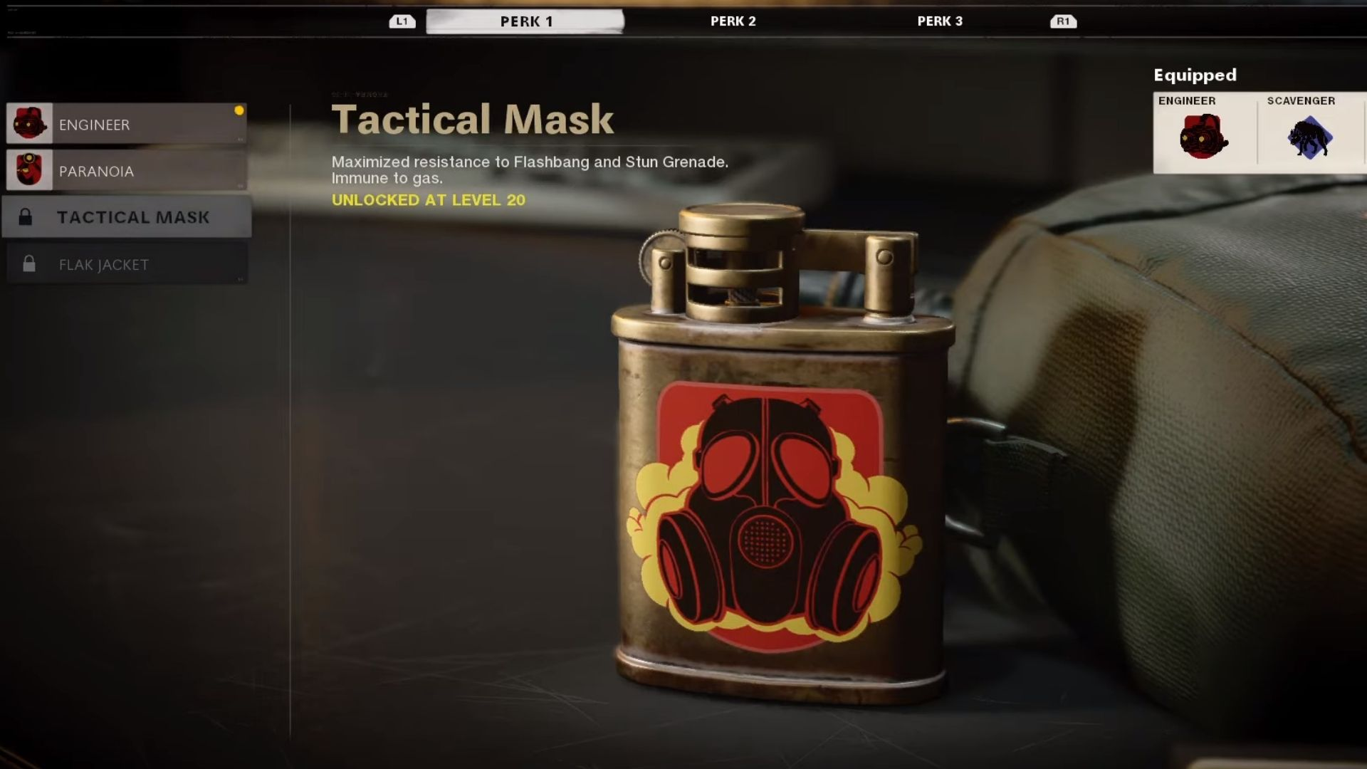 tactical mask perk in black ops cold war