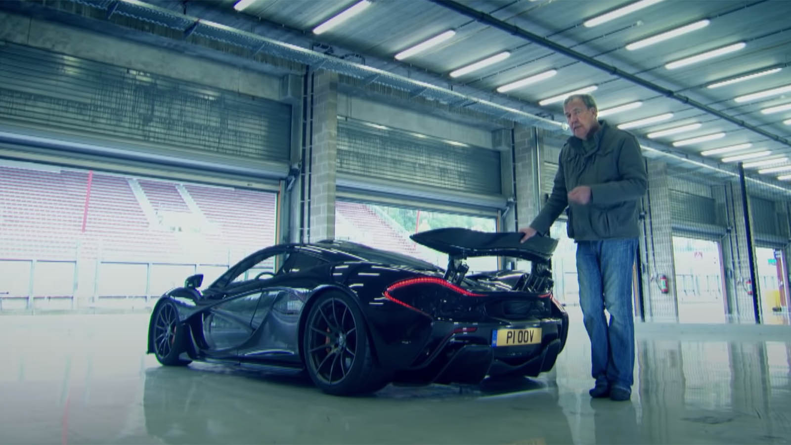 Jeremy Clarkson with McLaren P1