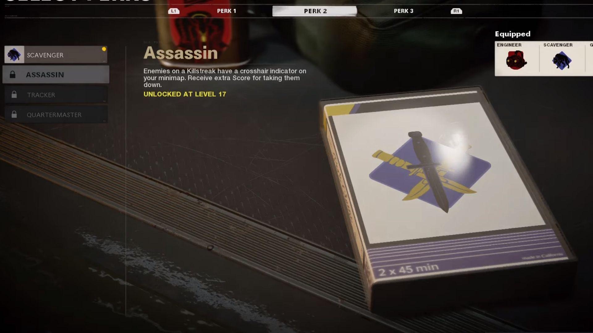 assassin perk in black ops cold war