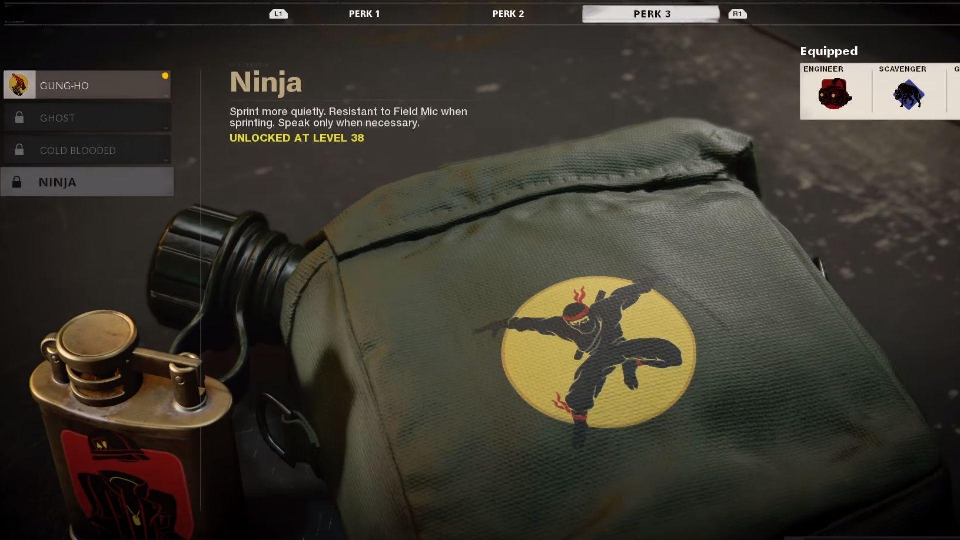 ninja perk in black ops cold war