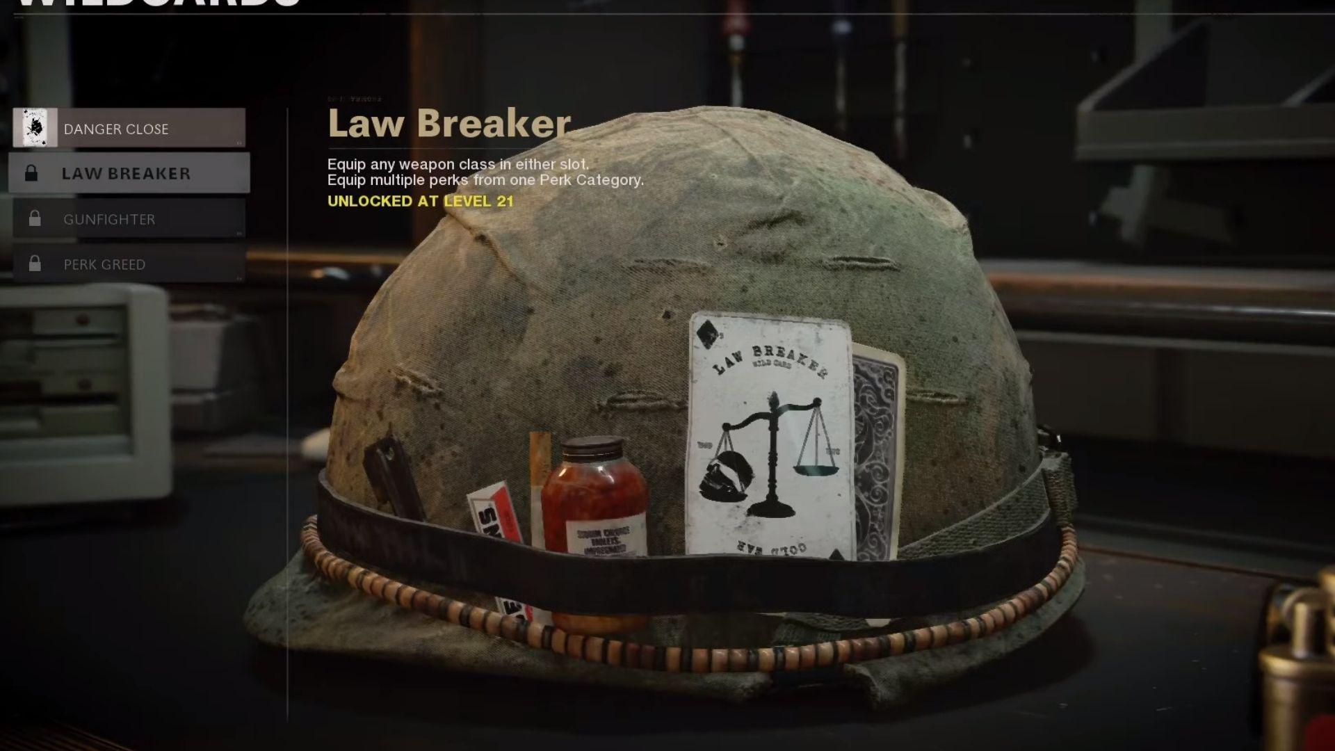 law breaker wildcard in black ops cold war