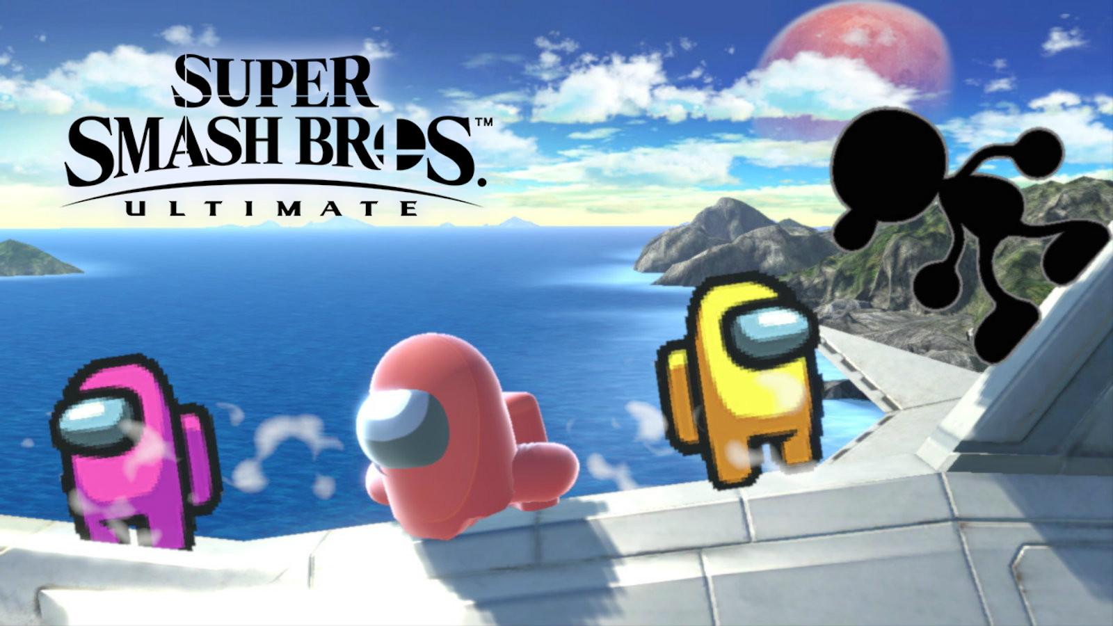 Among Us Smash attack in Smash Bros