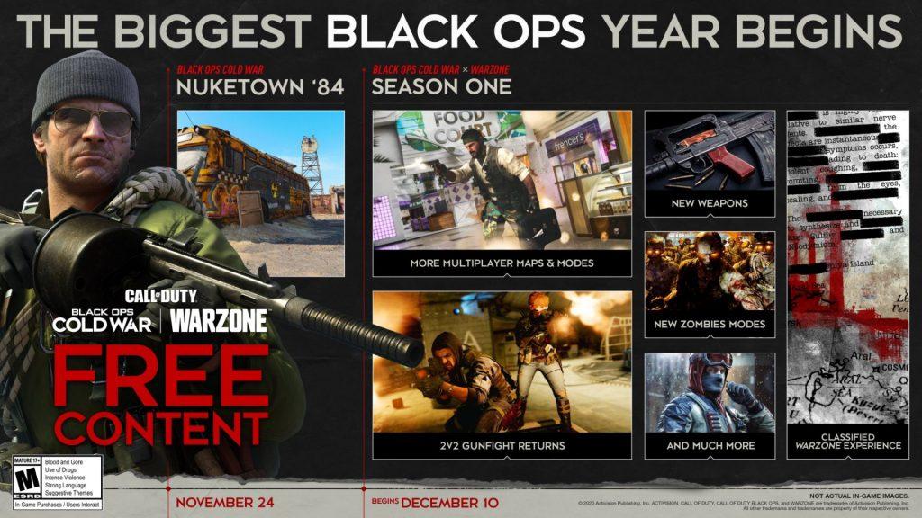 Black Ops Cold War Season One roadmap
