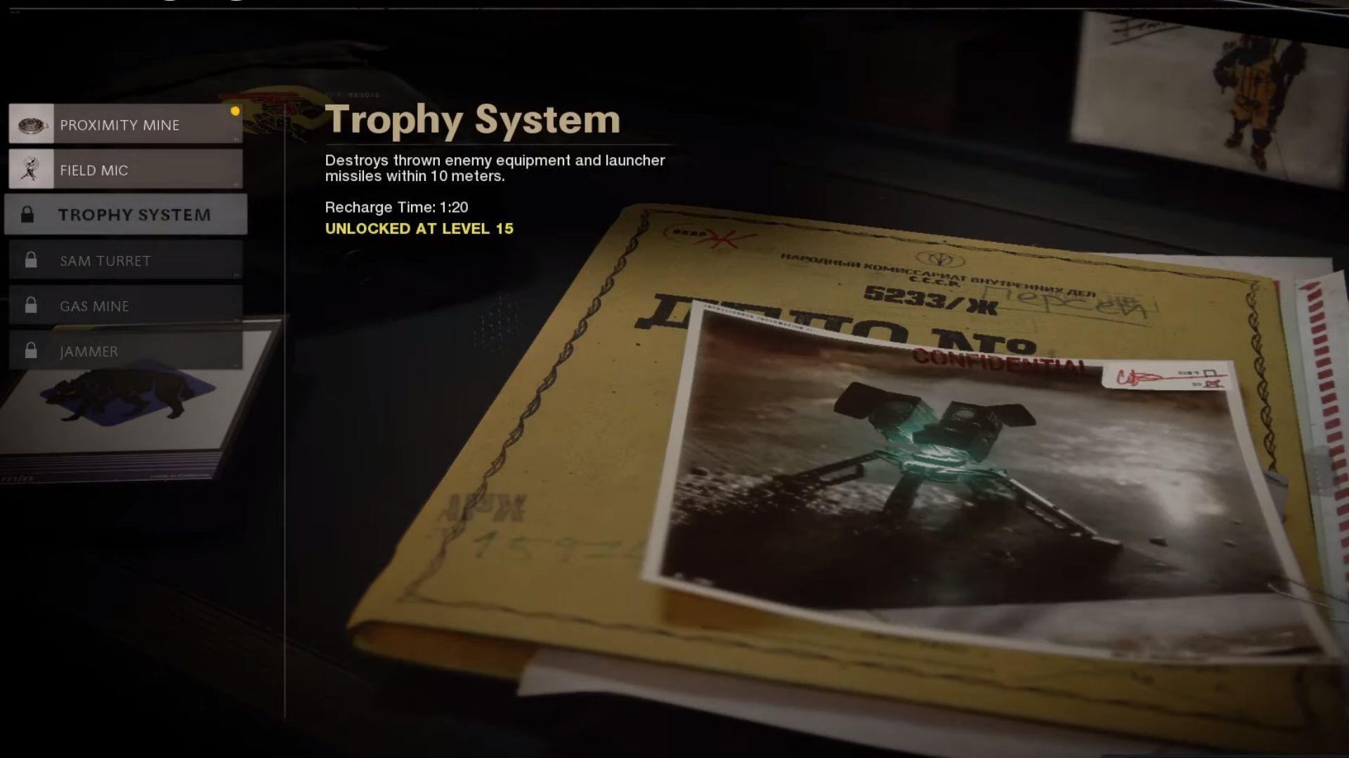 trophy system in black ops cold war