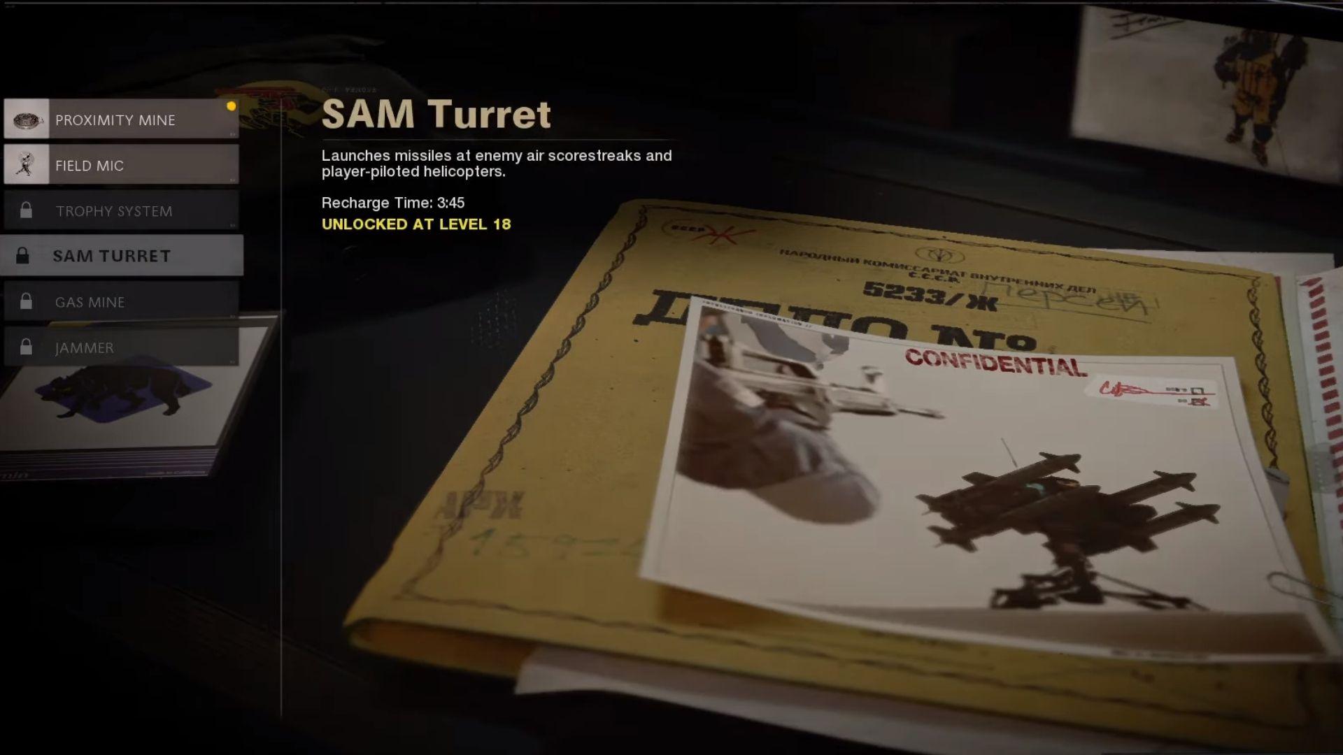 sam turret in black ops cold war