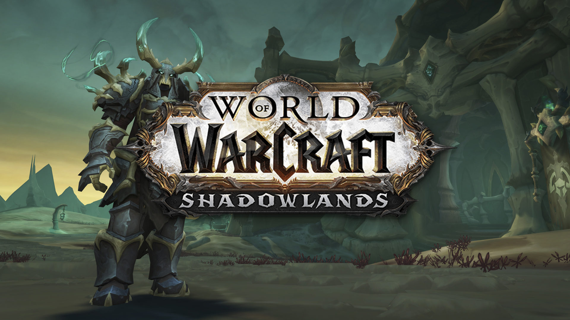 World of Warcraft Shadowlands logo with text stating 'which expansion to level through'