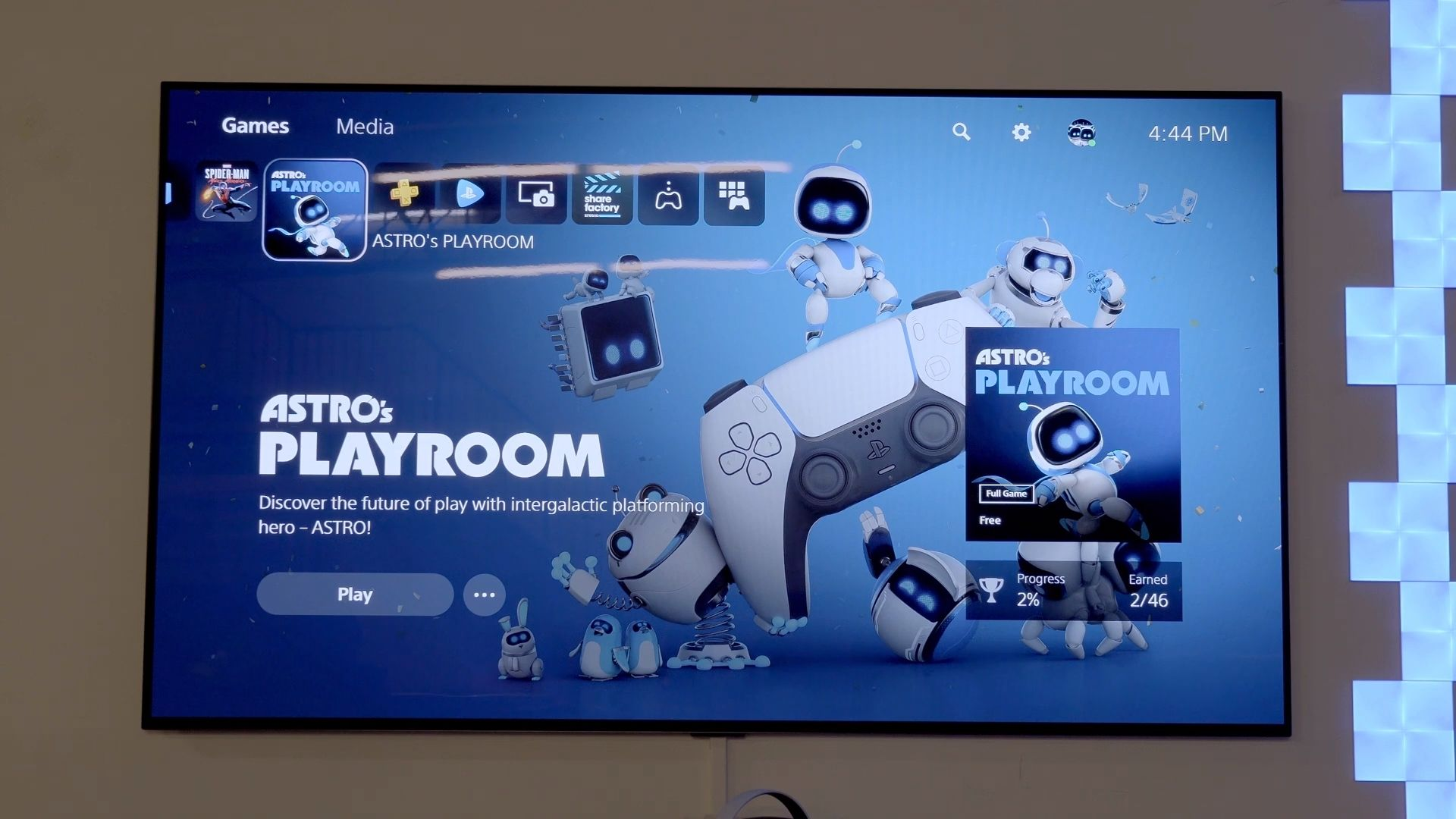 astro's playroom on the ps5