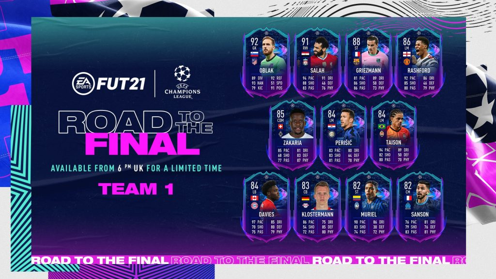 Road to the Final Team 1