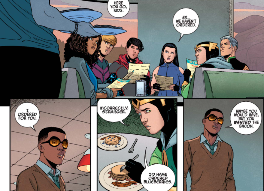 Blueberry Waffles in Young Avengers